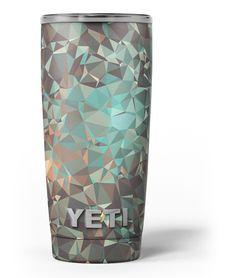 Abstract MultiColor Geometric Shapes Pattern Yeti Rambler Skin Kit from DesignSkinz