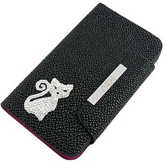 Dazzle Wallet Case for Samsung Galaxy Note II, Cat Black CCSAMN7100LW02BY