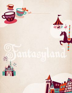 Disneyland Stationery Notepad sheets for sale at the Walt Disney Family Museum in San Francisco. The style was reminiscent of vintage Disney ephemera. Client: The Walt Disney Family Museum