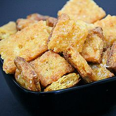 Our crunchy homemade Cheez-it cheddar cheese crackers are perfect Superbowl food!