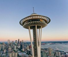 The Space Needle is an observation tower in Seattle, a landmark of the Pacific Northwest and a symbol of Seattle.