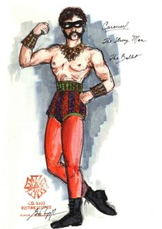 Carousel (Strongman - The Ballet). Paper Mill Playhouse. Costume design by Gregory A. Poplyk. 2002