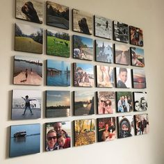 Mixtiles are beautiful photo tiles that stick and restick to your walls without nails or any damage. Family Wall Collage, Frame Wall Collage, Photo Wall Collage, Photo Canvas, Frames On Wall, Photo Tiles, Picture Tiles, Picture Wall, Travel Gallery Wall