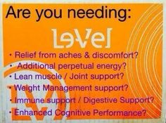 What do you need??? Click here https://lorijo22.le-vel.com/ to sign up for a FREE Customer Account!