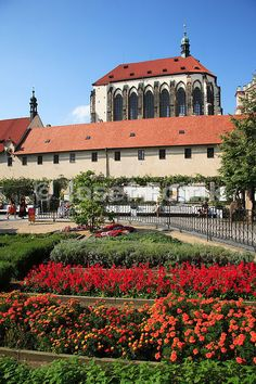 Franciscan Garden and Church of the Virgin Mary of the Snow, Prague, Czech Republic