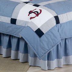 Sweet Jojo Designs Come Sail Away Queen Bed Skirt