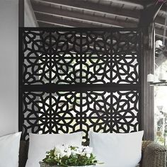 Home Decoration Ideas Indian Bungalow Rose 2 ft. H x 4 ft. W Farragut Fence Panel Finish: Black.Home Decoration Ideas Indian Bungalow Rose 2 ft. H x 4 ft. W Farragut Fence Panel Finish: Black Decorative Fence Panels, Garden Fence Panels, Vinyl Fence Panels, Lattice Fence, Covent Garden, Outdoor Rooms, Outdoor Living, Plastic Fencing, Vinyl Railing