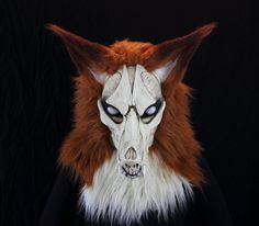 FOX Skull Fursuit zombie fur suit head realistic mask, gothic horror articulated jaw,realistic eyes  furry furries costume VOODOO DELICIOUS by VoodooDelicious on Etsy