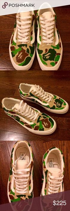 CUSTOM UNISEX Bape Camo Print Vans Old Skool Hdjdjd Vans Shoes Sneakers