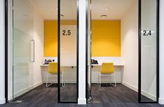 #office #workspace #yellow #black #frame #glazing #quietroom