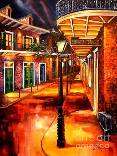French Quarter Wall Art - Painting - Harrys Corner New Orleans by Diane Millsap Original Oil Painting, New Orleans Art, Cityscape, Fine Art America, Art, Night Life, Louisiana Art, Art Pictures, Colorful Oil Painting