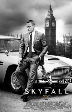 "Skyfall (2012): Daniel Craig Bond James Bond Judi Dench M Javier Bardem Raoul Silva Q MI6. I'm a sucker for the new Bond, especially when he actually pulls the old Aston Martin DB5 out of the garage. ""Just look at you, barely held together by your pills and your drink."" ""Don't forget my pathetic love of country."""