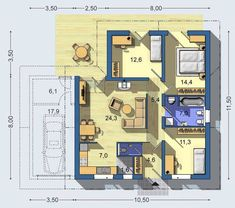 House Plans, Floor Plans, How To Plan, Architecture, Space, Houses, House Construction Plan, Cottage Floor Plans, Blueprints For Homes