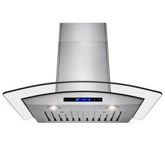 AKDY 30 in. Wall Mount Convertible Range Hood in Stainless Steel with Arched Tempered Glass-HD-RH0237 - The Home Depot
