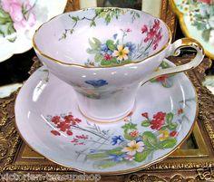 Aynsley Lavender Corset Floral Pattern Teacup