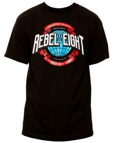 #REBEL8 #INDUSTRY GIANTS T-SHIRT BLACK