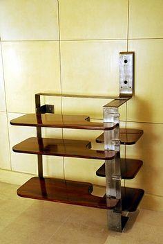 by pierre chareau Wall Shelves, Shelving, Shelf, Furniture Inspiration, Design Inspiration, Pierre Chareau, 1930s Kitchen, Modern Furniture, Furniture Design