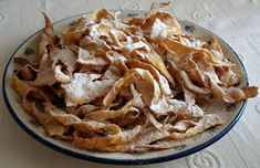 Angel wings and other polish desserts Polish Desserts, Polish Recipes, Snack Recipes, Dessert Recipes, Snacks, Beignets, Beignet Mardi Gras, Polish Cookies, Poland Food