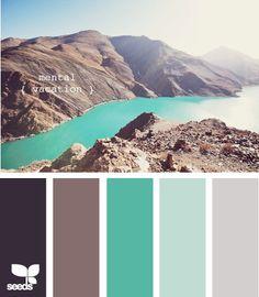 aqua & grey- Love this color swatch                                                                                                                                                     More