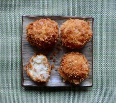 Crunchy smoked haddock croquetas Shellfish Recipes, Muffin, Cooking, Breakfast, Food, Seafood Recipes, Kitchen, Morning Coffee, Essen