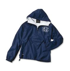 Monogrammed rain jacket... need this!