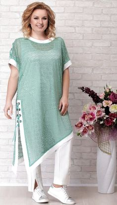 A collection of women's clothing of large sizes of the Belarusian company Aira Style summer 2019 Pakistani Dresses Casual, Pakistani Dress Design, Casual Dresses, Maxi Dresses, Kurta Designs Women, Blouse Designs, Winter Fashion Outfits, Fashion Dresses, Outfit Winter