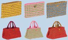 Bolso Prada de ganchillo /Crochet Prada bag
