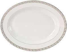 Mikasa Dinnerware, Infinity Band Oval Platter