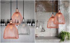 Подвесные светильники в стиле минимализм, сплетённые из проволоки