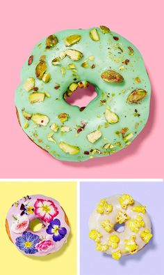 You've seen towers of Krispy Kreme donuts at weddings, but how about the new school of bespoke donut art, with innovative toppings like pistachio, popcorn and edible flowers | See all the flavours and shop details at You & Your Wedding