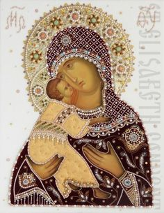Icon of mother of god of Vladimir in oklad     #icon #iconography #orthodoxicon #orthodoxiconography #buyicon #ordericon #iconographers #MotherOfGod #VirginMary