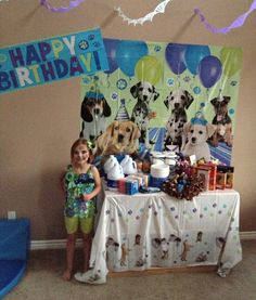 """Special thanks to Kelly of Las Vegas who dedicated her 7th birthday party to animal rescue.  Instead of personal gifts, she asked for donations for the animals (bleach, dog biscuits, canned cat food, paper towels, and more).  Her theme was """"Adopt, don't shop!"""" and activities included eating bone-shaped sugar cookies and trail mix out of dog dishes, playing the """"Forever Home"""" board game, reading """"Daisy Finds A Forever Home"""", and each child 'adopting' a stuffed puppy."""