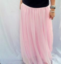 mom, can you make me a few of these? :) Chiffon Maxi Skirt Tutorial