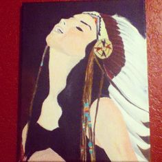 Finished painting of Lana Del Rey
