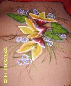Pintura em tapetes para banheiro feito pela minha mãe