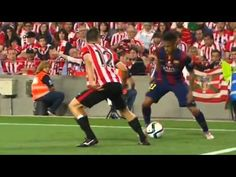 Neymar tried a rainbow flick… Athletic Bilbao players were not happy
