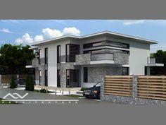 duplex Duplex House Design, Modern House Design, Duplex Plans, Stained Concrete, Design Case, I Am Awesome, Apartments Decorating, Construction, Patio