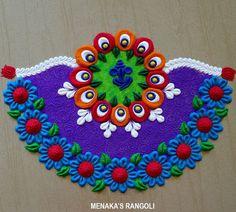 Rangoli Colours, Decoration For Ganpati, Oddly Satisfying Videos, Beautiful Rangoli Designs, Raksha Bandhan, Sand Art, Simple Colors, Crochet Earrings, Blanket