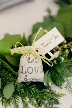 Let Love Brew - Take-home gift - Wedding favor - roasted coffee