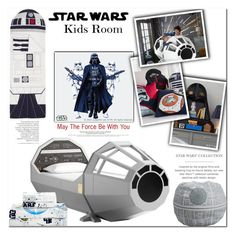 """Star Wars Kids Room"" by es-vee ❤ liked on Polyvore featuring interior, interiors, interior design, home, home decor, interior decorating, bedroom, starwars, maytheforcebewithyou and KidsBedroom"