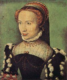 Portrait of Gabrielle de Rochechouart Musée Condé, Chantilly c. 1574