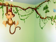 Lion King Nursery Mural - would be super cute on the blue walls