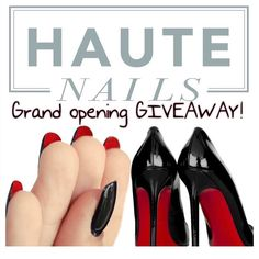 "Hey guys! If you don't know about our GIVEAWAY here it is. We are doing our first EVER giveaway for our grand opening. The lucky winner will receive a pair of ""so kate"" Christian Louboutin  Here's how to enter: 1. Follow us 2. Like this photo 3. Repost this  4. Tag 5 friends on the comment below  5. Use hashtag #hautenailsltd That's it! Easy peezy.  Giveaway ends MARCH 15! Winner will be announced shortly after  Good luck everyone…"