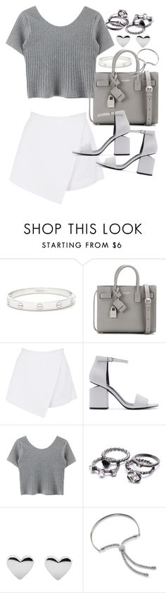 """Untitled #19773"" by florencia95 ❤ liked on Polyvore featuring Cartier, Yves Saint Laurent, BeginAgain Toys, Alexander Wang and Monica Vinader"
