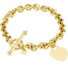 14k Yellow Gold Bracelet With Heart 7 Inch - JewelryWeb JewelryWeb. $1142.10. Save 50%!