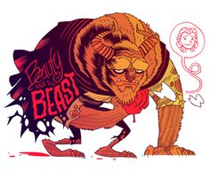 The Beast illustrated by Dan Hipp    my favorite disney movie<3