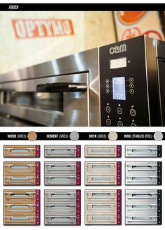 OPTYMO CONCEPT Digital Series - Static electric ovens