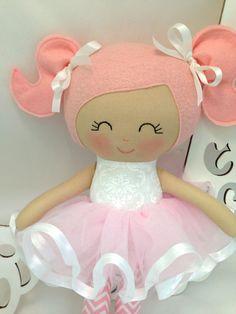 Bailarina muñeca hecha a mano Rag Doll tela por SewManyPretties