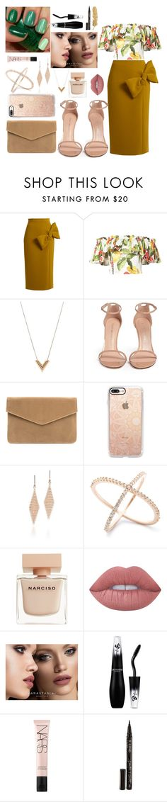 """🌸🌺🌸"" by fllodeea ❤ liked on Polyvore featuring Roksanda, Isolda, Louis Vuitton, Stuart Weitzman, Casetify, Tiffany & Co., Narciso Rodriguez, Lime Crime, Anastasia Beverly Hills and NARS Cosmetics"