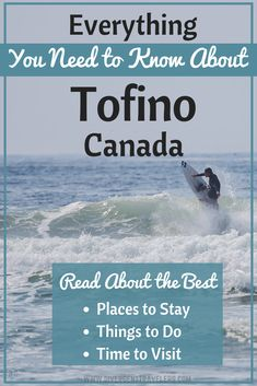 Planning an epic getaway on Vancouver Island with the best things to do in Tofino BC! Includes top tours, personal recommendations and travel planning tips. Travel Tips, Travel Destinations, Travel Guides, Ultimate Travel, Canada Travel, Wanderlust Travel, Canoeing, Kayaking, British Columbia